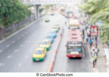 elhomályosít, forgalom, szállítás, háttér