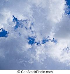 elhomályosul, képben látható, a, kék ég