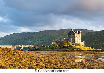 elian, scozia, skye, tramonto, donan, isola, castello