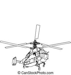 elicottero, prospettiva