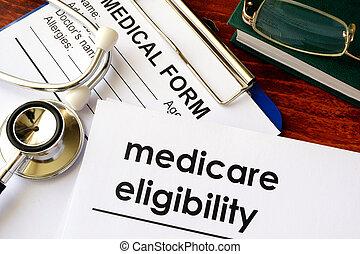 eligibility., medicare, documento, título