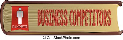 Eliminated business competitor - Thick old business book -...