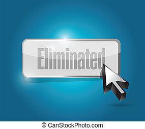 eliminated button illustration design