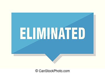 eliminated price tag - eliminated blue square price tag