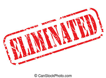 Eliminated red stamp text on white background