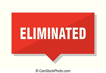 eliminated red tag - eliminated red square price tag