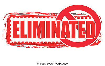 eliminated stamp - eliminated grunge stamp with on vector...