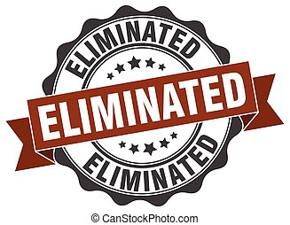 eliminated stamp. sign. seal