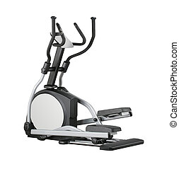 Eliptical exercise equipment on white background