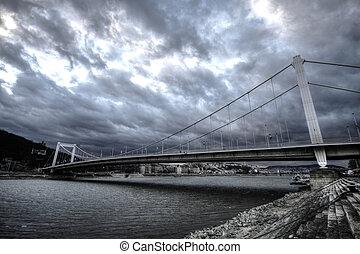 Elisabeth bridge at Budapest, Hungary