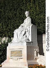 Elisabeth Kaiserin von Oesterreich Denkmal, Elisabeth Empress of Austria monument, located in the Volksgarten Park in Vienna, Austria