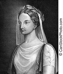 Elisabeth Kulmann (1808-1825) on engraving from 1859....