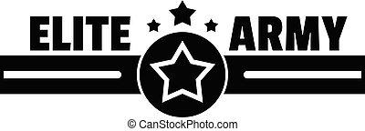 Elite army logo, simple style