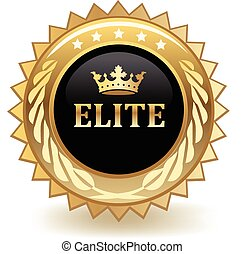 Elite Badge - Elite gold badge.
