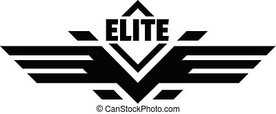Elite force logo, simple style