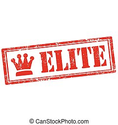 Elite-stamp - Grunge rubber stamp with text Elite,vector...