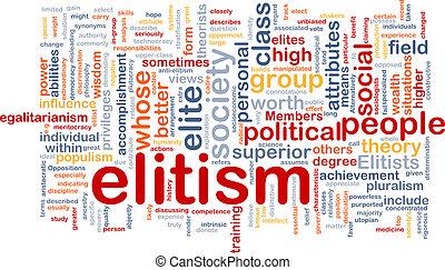 elitism, wordcloud, concept, fond, illustration