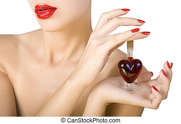 elixir of Love (love spell) - Beautiful woman with red ...