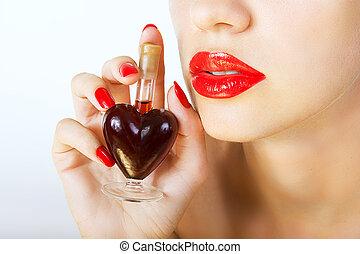 elixir of Love (love spell) - woman holding elixir of Love