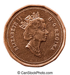 Elizabeth II - Queen\\\'s Portrait on Canadian Coin;...