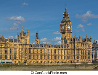 Elizabeth Tower, Big Ben Closeup - The Elizabeth Tower, Big...