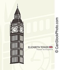 Elizabeth tower clock big Ben