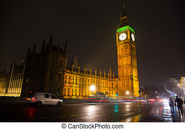 Elizabeth Tower known as the Big Ben in London, England, UK