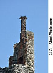 Elizabethan Chimney on castle