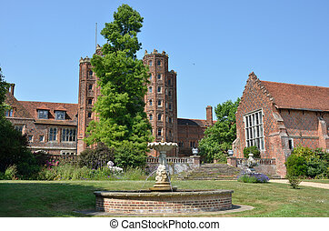 Elizabethan mansion with tower