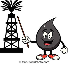 eljárás, magyarázó, csepp, olaj