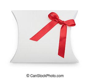 elképzel, gift-box, noha, piros szalag