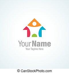 elképzelt, színes, restorati, otthon