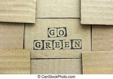 elkészített, abc, Topog, zöld, szavak, jár, fekete, Kartonpapír, kártya
