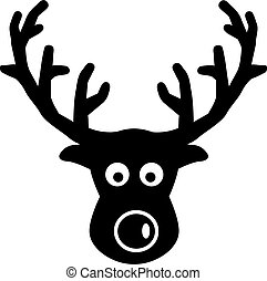 Elk comic head