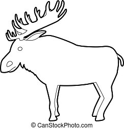 Elk icon , outline style