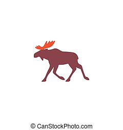 Elk Icon Vector