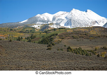Elk Mountains after First Snow