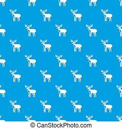 Elk pattern seamless blue