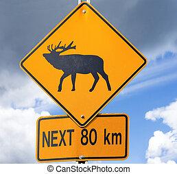 Elk Road sign