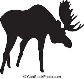 Elk vector. To see similar, please VISIT MY PORTFOLIO