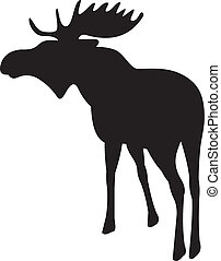 Elk vector isolated on white background