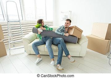 elke, echtgenoot, vrouw, krachtmeting, gezin, deling, vecht, divorce., tussen, andere., strijd, eigendom, men., ruzie, vrouwen