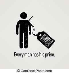 elke, man, heeft, prijs