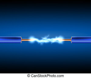 elkraften binder med rep, med, elektricitet, sparkls