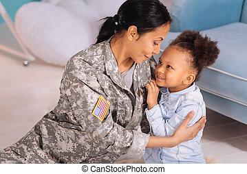 elle, mères, compagnie, vif, girl, apprécier, aimer