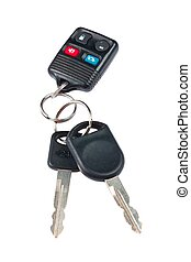 ellenőrzés, kulcsok, kép, távoli, autó