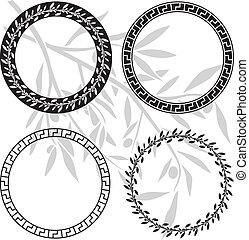 ellenico, modelli, antico, anelli