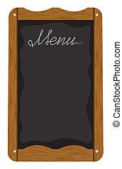 eller, bord, utanför, meny, restaurang