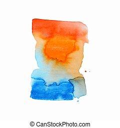 eller, elementara, bakgrund, tryck, abstrakt, komposition, vattenfärgen, nät, etikett, akvarell måla, färger, använd, paper., våt, urklippsalbum, fläck, hand, design, illustration