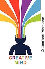 eller, färgrik, artist, huvud, går, stripes, stil, ute, ...